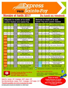 Express Ste-Foy Horaire 2017